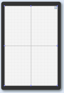 Layout widget divided into quarters