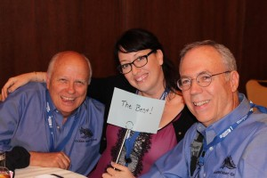 Amanda Blackburn, Dennis Fletcher and Chris Smith enjoying the OCEAN Dinner on Thursday night