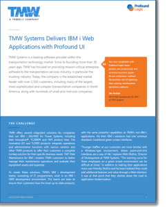 Case Study: TMW Systems Delivers IBM i Web Applications with Profound UI