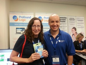 Linda O'Neil, winner of our $150 prize drawing at the OCEAN IBM i Tech Conference