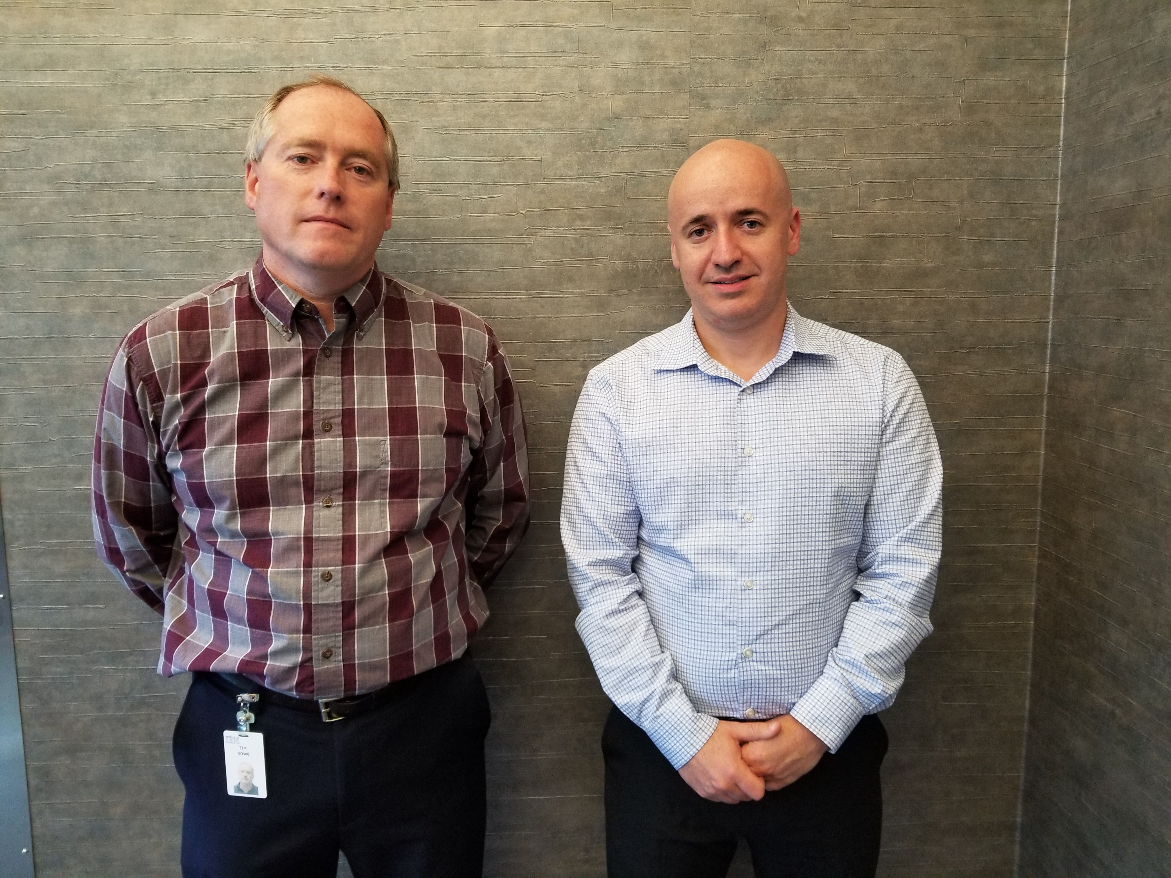 Alex Roytman meets with IBM's Business Architect for Application Development, Tim Rowe