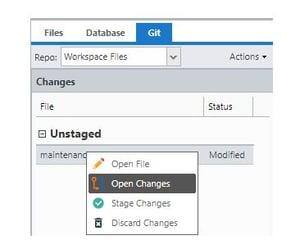 Git Open Changes