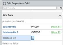 grid properties-database join