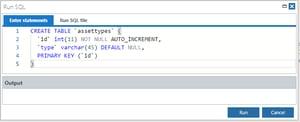 Run SQL