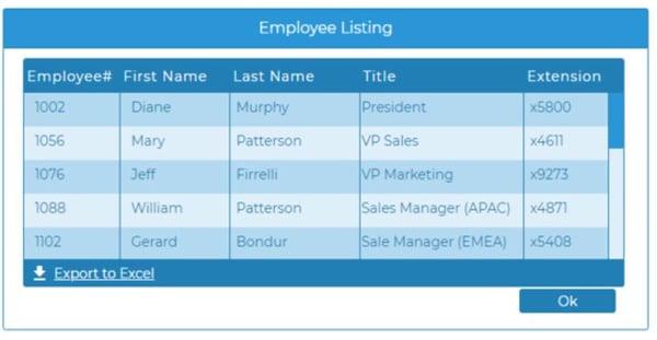 employee listing