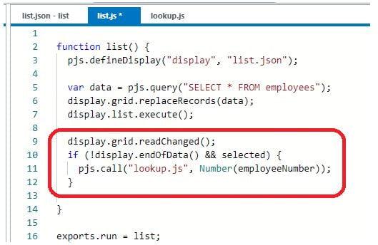 list.js code