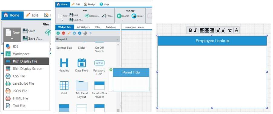 panel widget